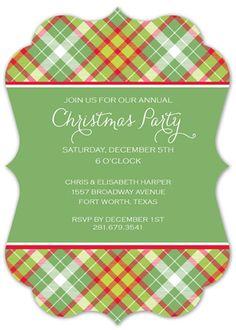 Christmas Tartan Bracket Invitation