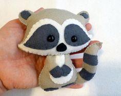 #Procione infeltro epannolenciRaccoon PDF pattern-Woodland animals toy-DIY-Nursery
