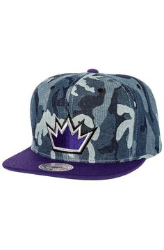0d71a627 Mitchell & Ness Hat The Sacremento Kings Snapback in Blue Denim Camo Blue