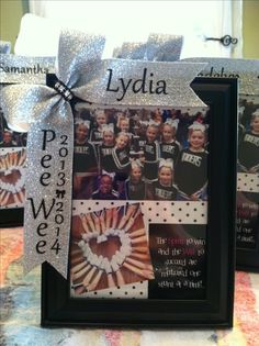 End of year cheer party Cheer Sister Gifts, Cheer Coach Gifts, Gifts For Cheer Coaches, Cute Cheer Gifts, Dance Team Gifts, Softball Gifts, Cheer Camp, Football Cheer, Team Cheer