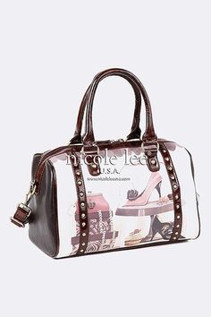 Nicole Lee Sweet Obsession French Inspired Doctor Satchel Handbag Purse
