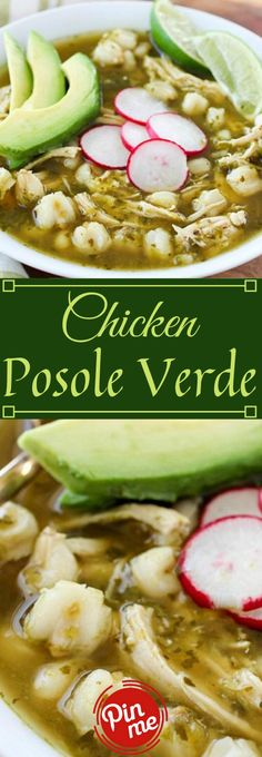 CHICKEN POSOLE VERDE RECIPE This Chicken Posole Verde Recipe has destroyed chicken and delicate hominy in an insane tasty verde juices. Such superb flavor in the verde sauce, a… Authentic Mexican Recipes, Mexican Food Recipes, Dinner Recipes, Mexican Desserts, Drink Recipes, Posole Recipe Chicken, Posole Verde Recipe, Chicken Pasole, Posole Recipe Easy