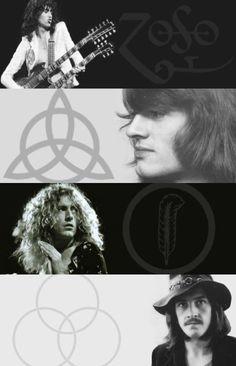 Led Zeppelin band member symbols