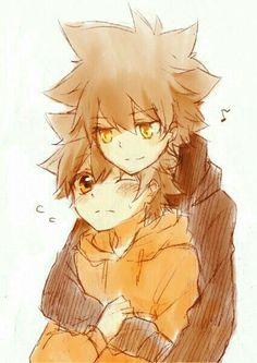 Sawada Tsunayoshi -One of my Favorite anime characters! Hitman Reborn, Reborn Katekyo Hitman, Old Anime, Anime Guys, Anime Art, An No Exorcist, Reborn Anime, 07 Ghost, Anime Siblings