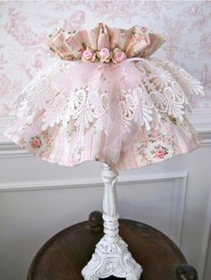 Pretty shabby chic lamp