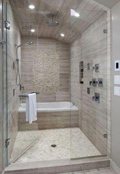 small bathroom with tub.small bathroom with tub remodel.small bathroom with tub shower.small bathroom with tub layout.small bathroom with tub and shower.small bathroom with tub and walk in shower.small bathroom with tub design. Wet Rooms, Dream Bathrooms, Beautiful Bathrooms, Master Bathrooms, Luxury Bathrooms, Marble Bathrooms, Coolest Bathrooms, Master Bathroom Plans, Farmhouse Bathrooms