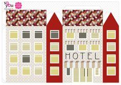 #Paper #Toy #House par Solange ABAZIOU pour Le Quai Angers - Paper House – Maison de papier – Modèle 4 - http://soyou.fr/