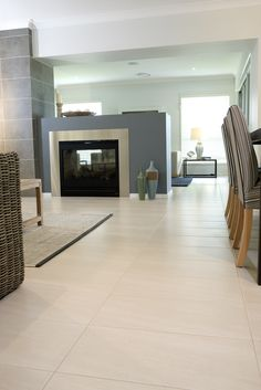Living Room Tile Floor Ideas elements can add a contact of style and design to any dwelling. Living Room Tile Floor Ideas can mean many things to many people… Living Room White, White Rooms, Living Rooms, Cozy Living, Living Area, Living Room Flooring, Kitchen Flooring, Tile Flooring, Kitchen Dining