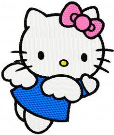 Hello Kitty Happy Angel machine embroidery design
