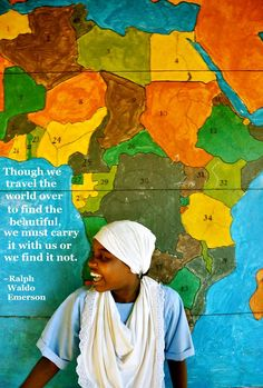 """Though we travel the world over to find the beautiful, we must carry it with us or we find it not."" #quote #travel"