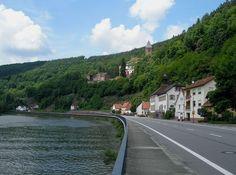 Neckar River | Neckar River and Zwingenburg Castle Lower Franconia County, Bavaria GR