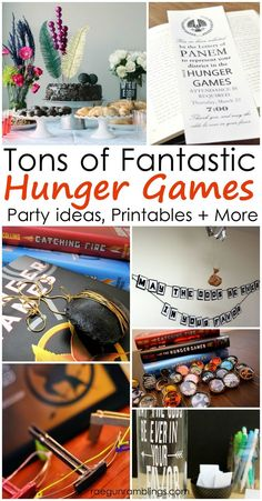 Must See Projects, Parties + Book Lists for Hunger Games Fans – Rae Gun Ramblings Lots of great Hunger Games party ideas, crafts, recipes and Hunger Games Party, Hunger Games Activities, Hunger Games Crafts, Tween Party Games, Diy Games, Party Activities, Activity Games, Party Themes, Party Ideas