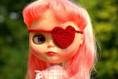 @mia motiee Tucker Heart eyepatch, though would want it covered in glitter and spikes.