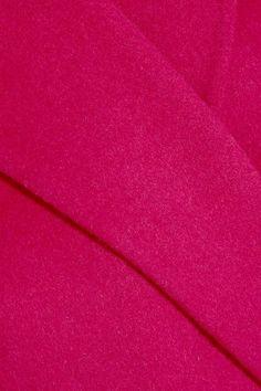 Maje - Belted Wool-blend Felt Coat - Fuchsia - FR
