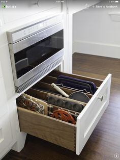 Under microwave drawer