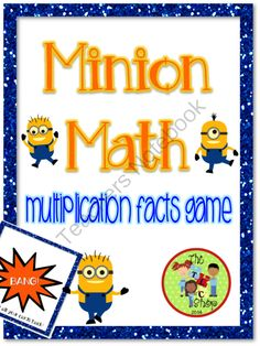 Minion Math Games - Multiplication Facts - A fun BANG game with multiplication facts and Minion cuties!.  A GIVEAWAY promotion for Minion Math - Multiplication Facts Game from The T.L.C. Shop on TeachersNotebook.com (ends on 1-19-2014)