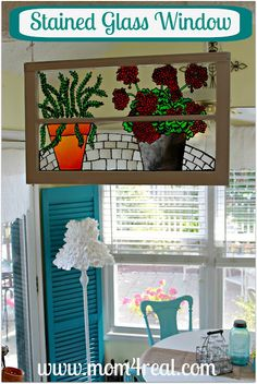 DIY Stained Glass Window -- have been looking for a project like this!
