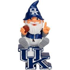 Kentucky Wildcats Gnome Sitting on a Logo
