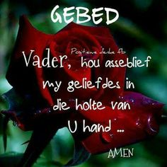 Gebed Small Garden Features, I Love You God, Small Gardens, Prayers, Religion, Bible, Faith, Christmas Ornaments, Afrikaans