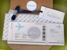Glückwunschkarte Hochzeit - Boarding Pass 03 Hochzeitskarte für Geldgeschenke von heaven+paper ::: the shop auf DaWanda.com