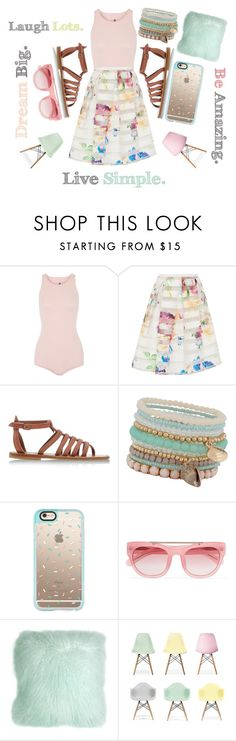 """Pastel My Life"" by fashion4life2100 ❤ liked on Polyvore featuring Rick Owens, Ted Baker, K. Jacques, ALDO, Casetify, Erdem, Pillow Decor and Ciel"