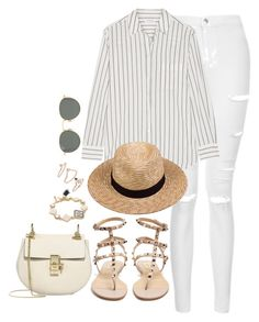 Tomorrow by theaverageauburn on Polyvore featuring Equipment, Topshop, Valentino, Chloé, Kate Spade, Lack of Color and Ray-Ban