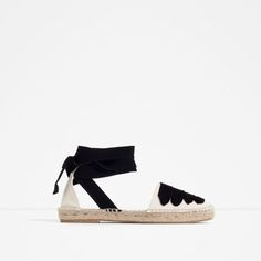 Image 1 of LACE-UP ESPADRILLES from Zara