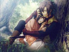 Hakuouki Shinsengumi Kitan (Demon Of The Fleeting Blossom) Image - Zerochan Anime Image Board Anime Love Story, Manga Love, I Love Anime, Me Anime, Anime Guys, Manga Anime, Kawaii Anime, Cute Anime Boy, Cute Anime Couples