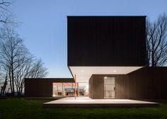 Blackened timber Dutch home