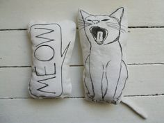 cat soft toys cute funny stuffed animals plushies meow gift idea for baby shower nursery decor room decor set of 2 pillows cat pillow meow nursery room decor soft by MosMea. Crazy Cat Lady, Crazy Cats, Softies, Plushies, Cat Lover Gifts, Cat Lovers, Cat Allergies, Cat Pillow, Textiles