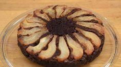 Pear Chocolate Caramel Cake