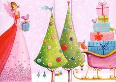 Christmas 3D XXL folding card for a cute por MarquisWonderland