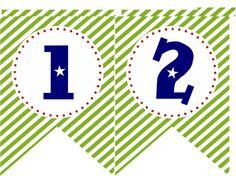 Rocket Number Panels   Buzz Lightyear   Birthday Banner   Free Printable