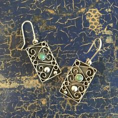Zinnia Folk Arts - Contemporary Baroque Mexican Sterling Silver With Bead, Turquoise