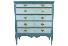 Scandinavian Painted Pine Dresser
