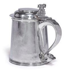 tankards and mugs ||| sotheby's n10005lot9g53fen European Furniture, Savage, Boston, Auction, Mugs, American, Silver, Tumblers, Mug