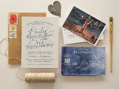 Oh So Beautiful Paper: Midnight in San Francisco Wedding Invitations + A Little Behind the Scenes
