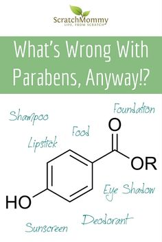 What's Wrong With Parabens, Anyway!? Come learn all about parabens over at Scratch Mommy.