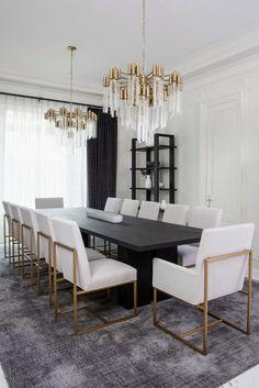 Dining Room Colors, Elegant Dining Room, Luxury Dining Room, Dining Room Design, Dining Rooms, Room Interior, Home Interior Design, Home Design, Design Design