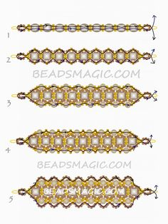 Free beaded pattern for bracelet Dark Honey | Beads Magic