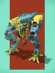 BiPed Walker by Jia How Lee | Robotic/Cyborg | 2D | CGSociety