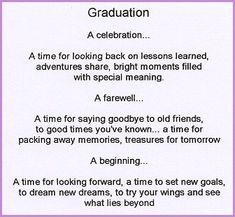 poems for graduating daughters | high school graduation poem