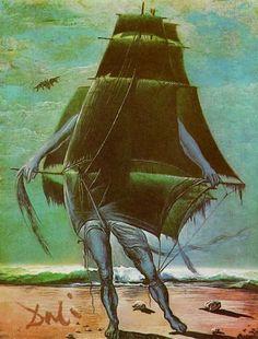"""Pixography — Salvador Dali ~ """"The Ship"""", 1934"""