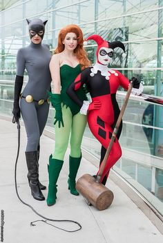 Cat Woman, Poison Ivy, and Harley Quinn - #SDCC Comic Con 2014 Day 3 (Erik Estrada) #Cosplay