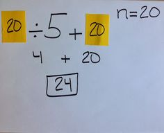 Great strategy for teaching substitution in algebra... from Middle School OCD: Five for Friday and Substitution Post-its