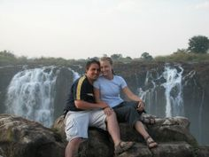 Nate and Ellen Shaffer at Vic Falls in Zimbabwe. Both serve on the leadership team of Forgotten Voices.