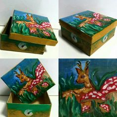 Sun and cheerfulness! Fully painted box. The unique pattern not reproduce.
