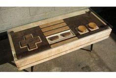 コントローラーとしても使えます! ファミコンのコントローラーを模した木製テーブル  http://www.roomie.jp/2012/04/905/