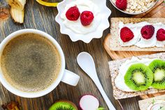 Fresh healthy breakfast with berries