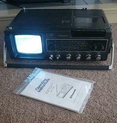 Vintage Panasonic Tv Radio Cassette Recorder Portable Model Tr 5001s Ebay Radio Panasonic Tvs Radio Cassette
